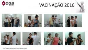 CAMPANHA DE VACINAÇÃO CGB - 2016